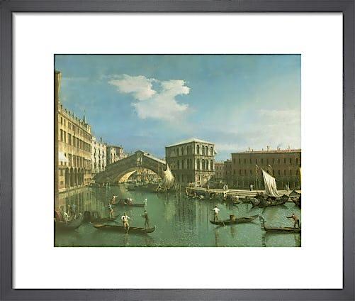 The Rialto Bridge, Venice by Giovanni Canaletto