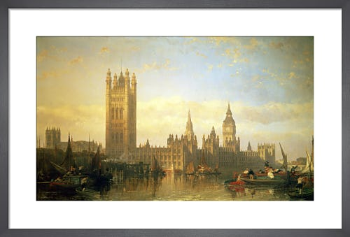 New Palace of Westminster from the River Thames by David Roberts