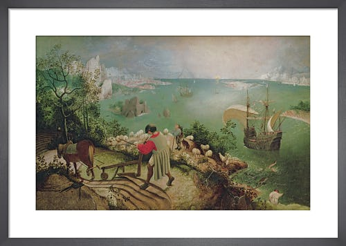 Landscape with the Fall of Icarus, c.1555 by Pieter Bruegel The Elder