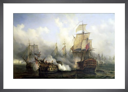 The Redoutable at Trafalgar, 1836 by Auguste Etienne Francois Mayer