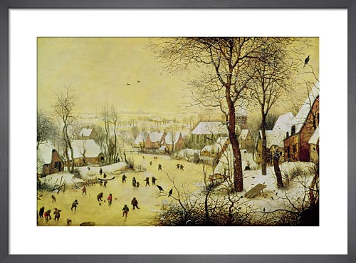Winter Landscape with Skaters and a Bird Trap, 1565 by Pieter Bruegel The Elder