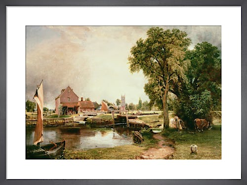 Dedham Lock and Mill, 1820 by John Constable