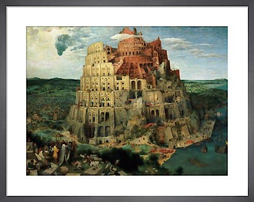 Tower of Babel, 1563 by Pieter Bruegel The Elder