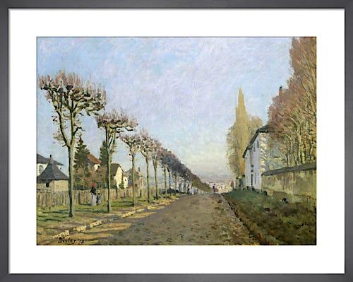 Rue de la Machine, Louveciennes, 1873 by Alfred Sisley