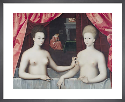 Gabrielle d'Estrees and her Sister the Duchess by Fontainebleau School