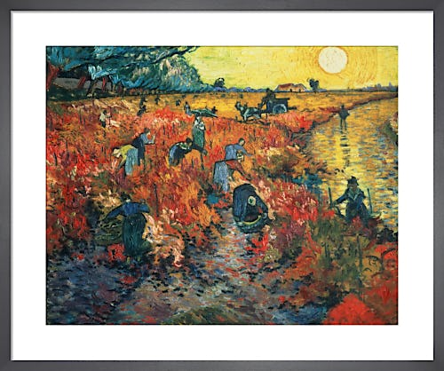 Red Vineyards at Arles, 1888 by Vincent Van Gogh