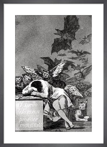 The Sleep of Reason Produces Monsters, from 'Los Caprichos' by Francisco Goya