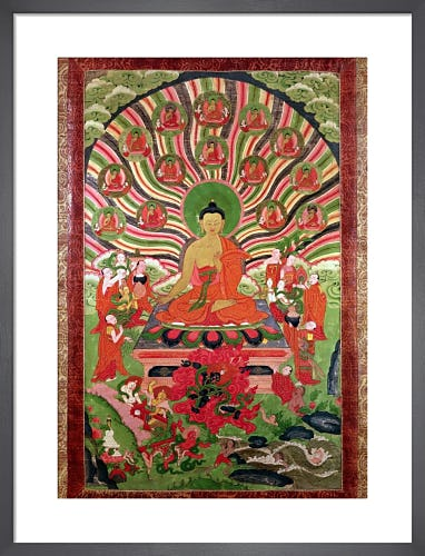 Scenes from the Life of Buddha by Tibetan School