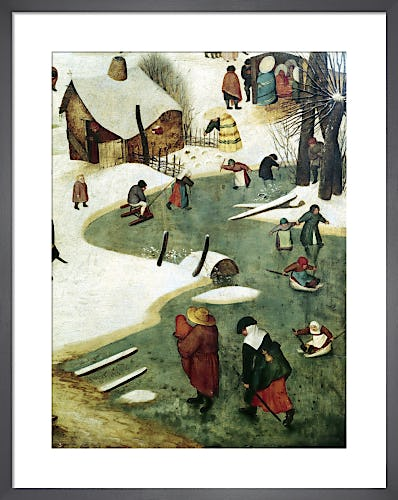 Children Playing on the Frozen River by Pieter Bruegel The Elder