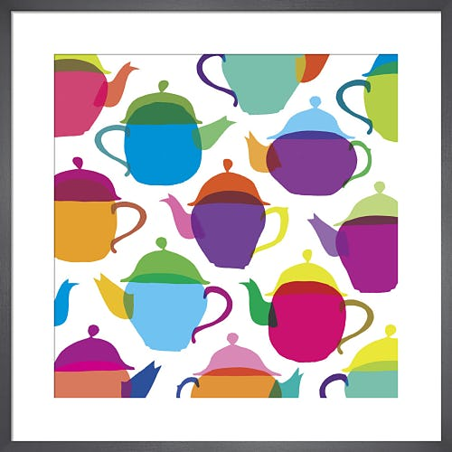 Retro Teapots by Louise Cunningham