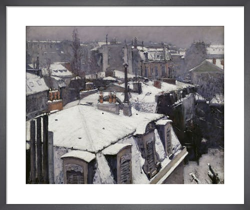 Rooftops in the snow by Gustave Caillebotte