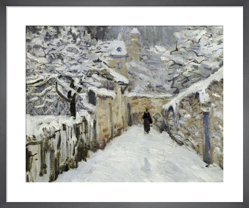 Snow in Louveciennes by Alfred Sisley