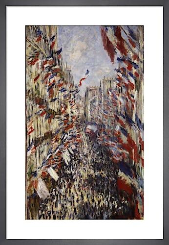 La Rue Montorgeuil Paris by Claude Monet