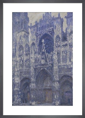 Rouen Cathedral (Facade and the Tour d'Albane. Grey Weather) by Claude Monet
