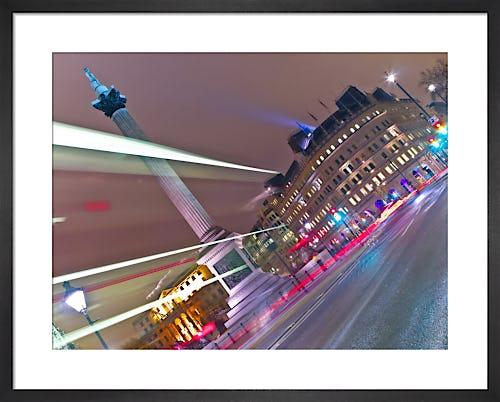 Bus Strip Lights, Trafalgar Square, London by Assaf Frank