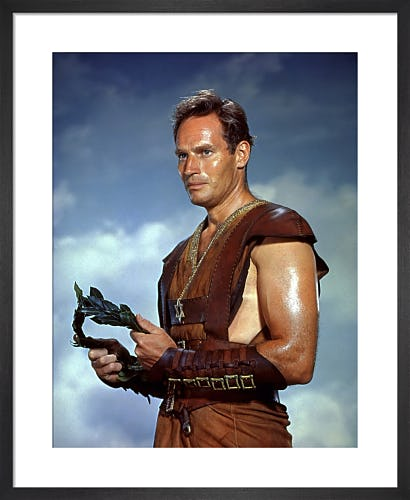 Charlton Heston (Ben-Hur) by Hollywood Photo Archive