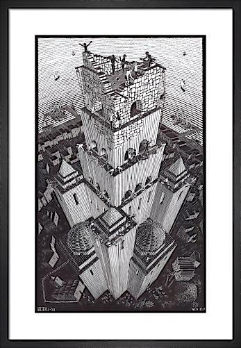 Tower of Babel by M.C. Escher