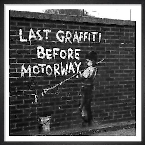 Banksy - Last Graffiti by Panorama London