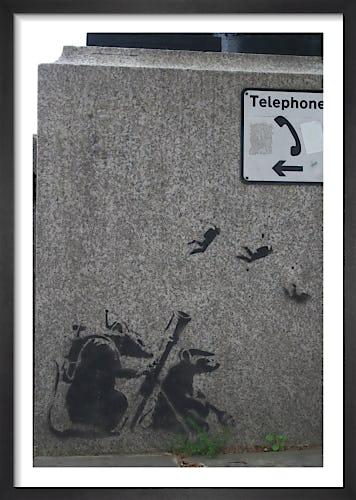 Banksy - Embankment Rats 1 by Panorama London