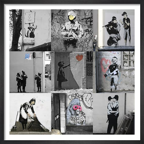 Banksy - Collage II by Panorama London