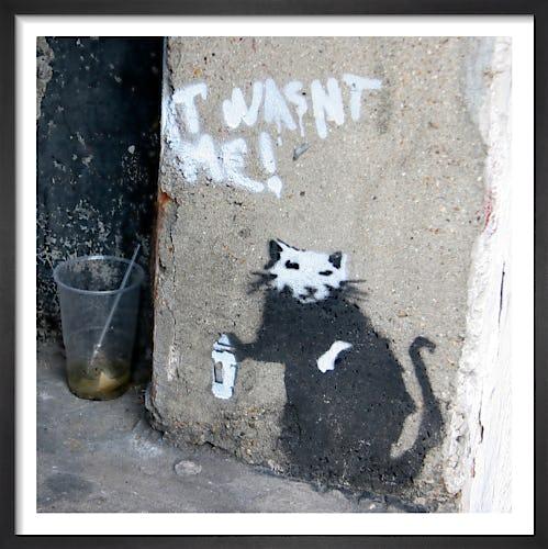 Banksy - Graffiti Rat by Panorama London