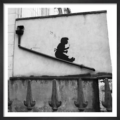 Banksy - Lower Clapton (B&W) by Panorama London