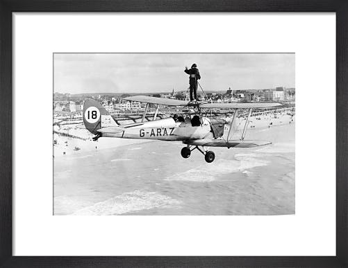 Wing walker on Tiger Moth, 1963 by Mirrorpix