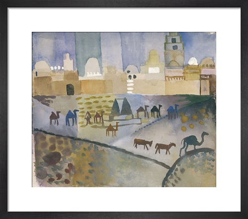 Kairouan I 1914 by August Macke