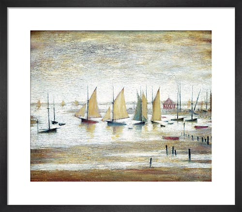 Yachts at Lytham by L.S. Lowry