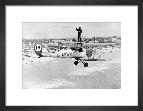 Wing walker on Tiger Moth, 1963 by Mirrorpix