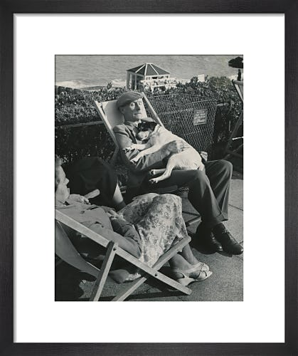 Seaside nap, 1950s by Mirrorpix