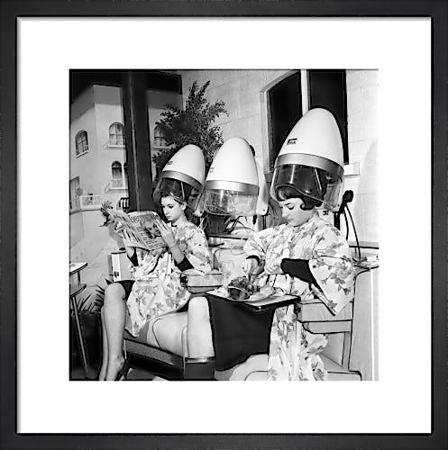 Mr Johns hairdresser, 1965 by Mirrorpix