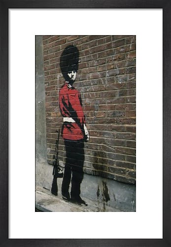 Pissing Guard by Street Art