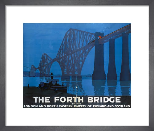 The Forth Bridge - At Night by Anonymous