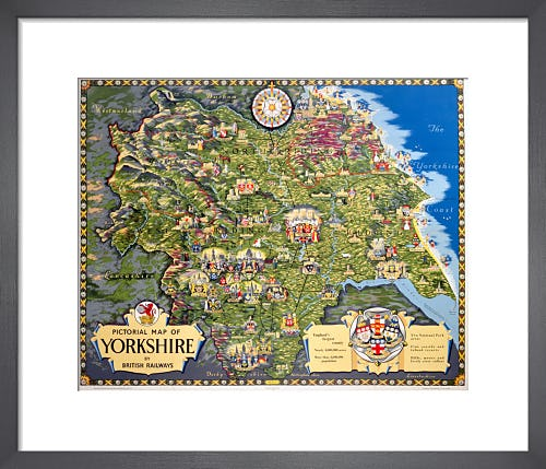 Pictorial Map of Yorkshire by Anonymous