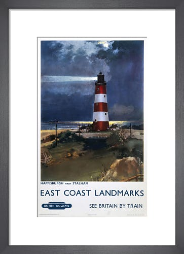 East Coast Landmarks - Happisburgh Lighthouse by Anonymous