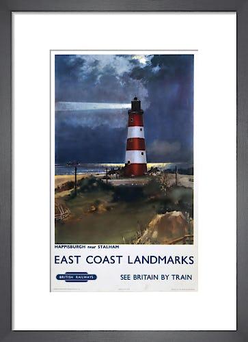 East Coast Landmarks - Happisburgh Lighthouse by Anonymous
