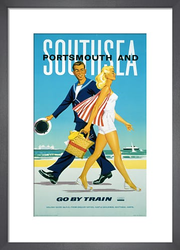 Portsmouth and Southsea - Go by Train by Anonymous