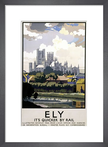 Ely - Cathedral Across River by Anonymous