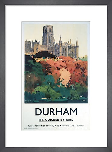Durham - Trees and Cathedral by Anonymous