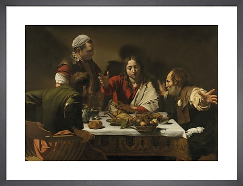 The Supper at Emmaus by Michelangelo Merisi da Caravaggio