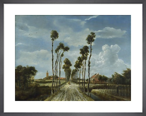 The Avenue at Middelharnis by Meindert Hobbema