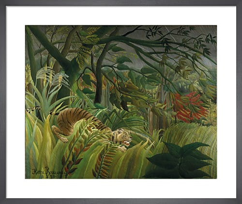 Surprised! (Tiger in a Tropical Storm) by Henri Rousseau