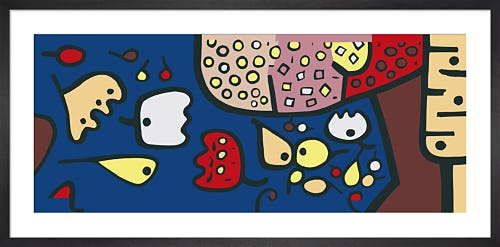 Fruchte auf Blau (Fruit on Blue) 1938 by Paul Klee