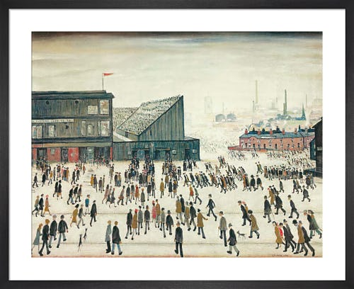 Going To The Match by L.S. Lowry