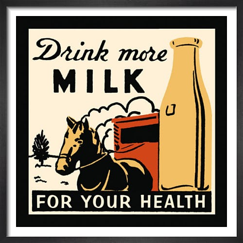 Drink more Milk for your Health by Retro Series