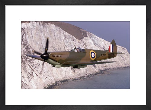Spitfire at the White Cliffs of Dover by Anonymous
