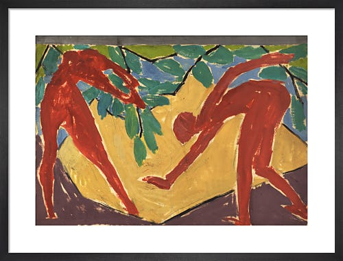 Design for a folding screen - Adam and Eve, 1913-14 by Vanessa Bell