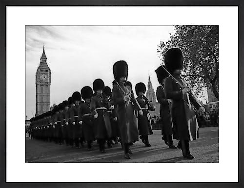 Bearskins and Big Ben, Parliament Square by Niki Gorick