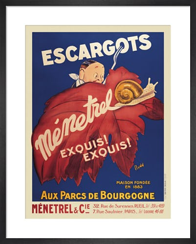 Escargots Menetrel by Vintage Posters